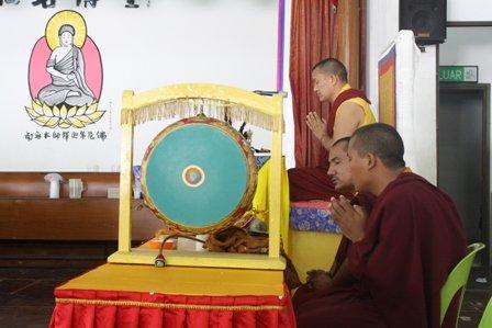 第14世迦旺罗德上师(Ngawang Lodoe Rinpoche)主持大日如来祈福超度大法会。